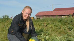 Tea Katila on itseoppinut meloninviljelijä.
