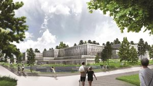 Kanta-Hämeen uuden keskussairaalan havainnekuva