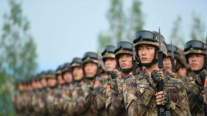 Kiinan asevoimien sotilaita.
