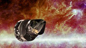 Piirroskuva Planck-satelliitista.