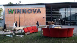 Winnovan kampuksella Porissa on vielä keskeneräistä elokuun 20. vuonna 2018.