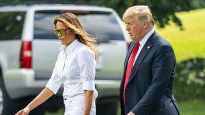 Yhdysvaltain presidenttipari Melania ja Donald Trump