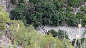 Tulvaonnettomuus Raganello-vuoristojoen alueella.