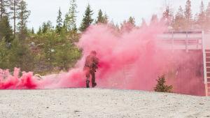 Puolustusvoimat valmiusjoukot armeija varusmies merkkisavu