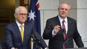 Malcolm Turnbull ja Scott Morrison