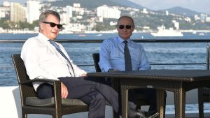 Sauli niinistö ja Vladimir Putin tapasivat Sotšissa 22. elokuuta.