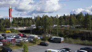 Näkymä Kuopion bussiturman onnettomuusristeykseen.