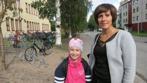 Mari Hyrkäs ja Minja-tytär
