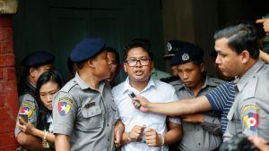 Myanmar tuomitsi kaksi uutistoimisto Reutersin toimittajaa seitsemäksi vuodeksi vankeuteen