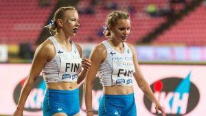 Kuvassa Aino Pulkkinen, Anniina Kortetmaa (oik.)