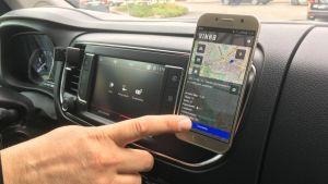 Kyyti-sovellus on yksi taksisovelluksista Lahdessa