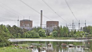 Loviisan ydinvoimalan ykkös ja kakkosreaktorit sijaitsevat Hästholmenin saarella.