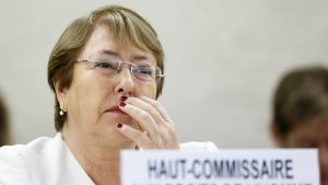 YK:n ihmisoikeusasioiden korkea edustaja Mihelle Bachelet