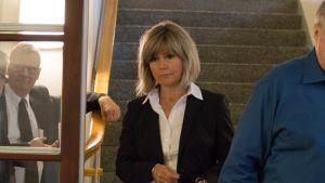 Syyttäjä Sari Anttonen saapui Lapin käräjäoikeuteen lounastauon jälkeen.