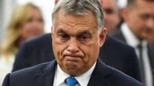 Unkarin pääministeri Viktor Orbán Euroopan parlamentissa.