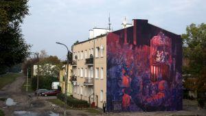 Sepen muraali Education System valmistui Varsovassa, Puolassa vuonna 2016.