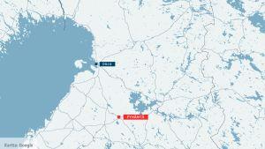 12.9.2018 kadonnut eteläsuomalainen mies löydettiin Pyhännällä huonokuntoisena.