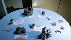 VTT:n 3D-metallitulostimella tulostettuja komponentteja