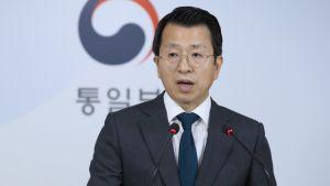 Koreoiden yhdistymistä hoitavan ministeriön edustaja Baik Tae-hyun tiedotti Kaesongiin avattavasta yhteisestä virastosta 14. syyskuuta Soulissa.