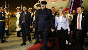 Venezuelan presidentti Nicolás Maduro aloitti tänään kolmipäiväisen valtiovierailun Kiinassa.