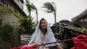 Mangkhut-taifuuni iski myöhään perjantai-iltana Filippiinien pohjoisosiin.