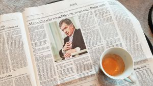 Presidentti Niinistön haastattelu Frankfurter Allgemeine Zeitung -lehdessä.