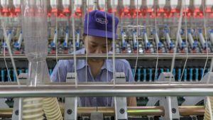 Tullikorotusten kohteeksi joutunut Talakin tekstiilitehdas Jiangsun maakunnassa.