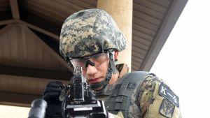 Etelä-Korealainen sotilas.