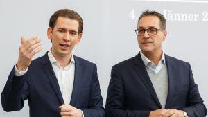 Sebastian Kurz ja Heinz-Christian Strache