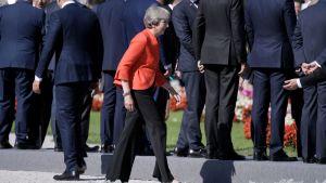 Britannian pääministeri Theresa May osallistui EU-huippukokoukseen Salzburgissa.