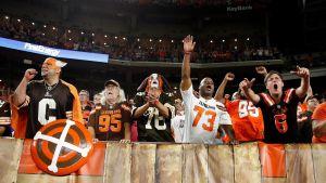 Cleveland Browns juhli pitkästä aikaa voittoa.