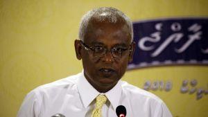 Opposition presidenttiehdokas Ibrahim Mohamed Solih