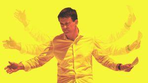 Kuvamanipulaatio henkilöstä Manuel Valls.