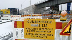 Rovaniemen rautasilta. Remontti loppusuoralla 5.10.2018.