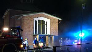 Pyhän ylienkeli Mikaelin kirkossa oli tulipalo 7.10.2018.