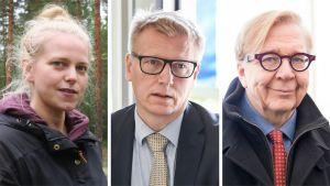 Sini Harkki, Kimmo Tiilikainen ja Markku Ollikainen.