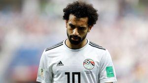 Mo Salah teki näyttävän maalin Egyptille.