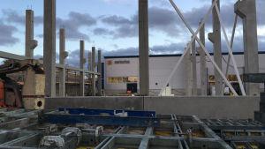 sartorius biohit tehtaan laajennus työmaa