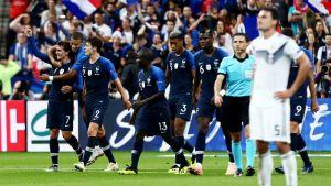 Antoine Griezmann oli Ranskan sankari Saksa-pelissä.