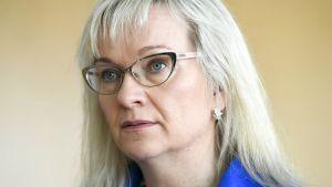 Julkisten ja hyvinvointialojen liiton JHL:n puheenjohtaja Päivi Niemi-Laine.