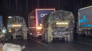 sotilaita Kuortin ABC-asemalla