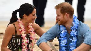 Meghan Markle ja Prinssi Harry Australiassa.