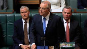 Australian pääministeri Scott Morrison esitti kansallisen anteeksipyynnön tuhansille seksuaalisen hyväksikäytön uhreille parlamentissa Canberrassa 22. lokakuuta.