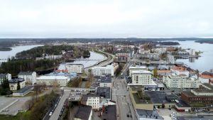 Ilmakuva Savonlinnasta lokakuun lopussa 2018