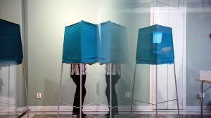 Äänestyspaikka Tukholmassa.