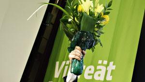 ouko Aalto valittiin vihreiden uudeksi puheenjohtajaksi puoluekokouksessa Tampereella 2017.