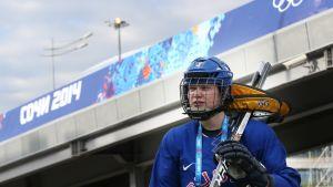 Mira Jalosuo Sotshin olympialaisissa 2014