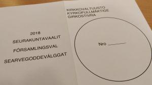 searvegoddeválggat seurakuntavaalit vaalilippu