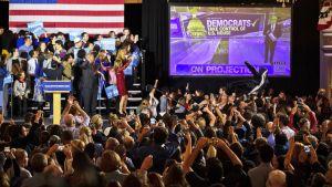 Demokraattien vaalitapahtuma Bostonissa.
