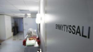 Oulaskankaan sairaalan synnytysosasto.